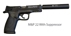 M&P 22 With Supressor